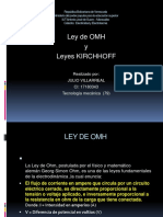 Ley de Omh y Kirchhoff