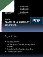 Plateletandcoagulationdisorder 130121194352 Phpapp01 2