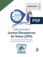 Instructivo Para JRV, Fascículo I, TSE Guatemala 2019