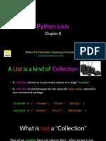 Py4Inf 08 Lists