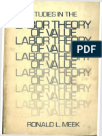 (Modern Reader Paperback) Ronald L. Meek - Studies in the Labour Theory of Value-Monthly Review Press,U.S. (1989)