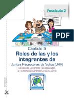 Instructivo de Roles de JRV, Fascículo II, TSE Guatemala 2019