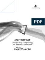 OptiStruct Concept Design Using Topology and Topography Optimization