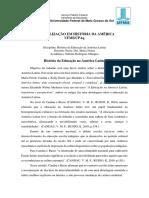 Disciplina sobre Educação na América Latina.docx