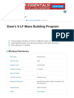 Dave's v.I.F Mass Building Program _ Muscle & Strength