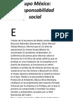 Grupo México irresponsabilidad social