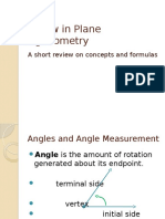 Review in Plane Trigonometry