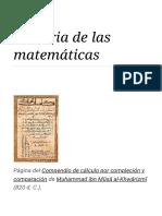 Historia de las matemáticas - Wikipedia, la enciclopedia libre.pdf