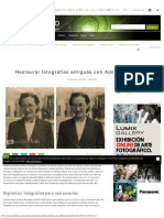 Restaurar Fotografías Antiguas Con Adobe Photoshop