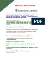 LOS 7 PASOS DE LA BIO-FUSION