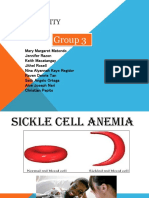 GROUP 3 INTEGRITY Sickle Cell Anemia