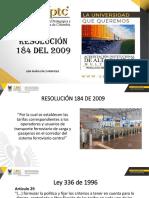 RESOLUCION 184 DEL 2009.pptx