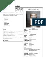 Óxido de Silicio (IV)