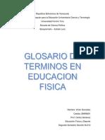 Glosario de términos en Educación Física
