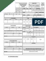 Formulario de matricula de maquinaria