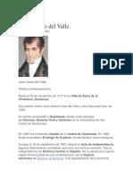 Biografia Jose Cecilio Del Valle