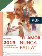 Cuaderno de Apuntes Asamblea 2019 El Amor Nunca Falla CORREGIDO