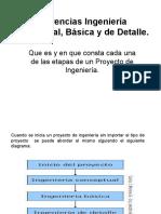 Diferencias Ingeniería Conceptual, Básica y de Detalle