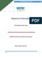 Modelos Teóricos de Dinámicas de Grupos