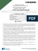 1 - Prova Ufob Assistente Em Administração 2018