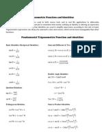 Trigonometric Function and Identities