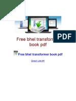 Free bhel transformer book pdf