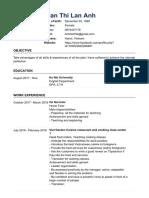 CV for Summer Camp