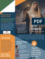 2nd Semester Institute Class Schedule 2