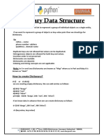 Dictionary Data Structure