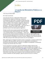 minority report e corrupção