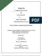 Project on Tata Aig & Hdfc....