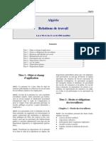 Algerie - Relations de Travail