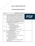Script on Optical Network Communication Basics