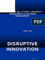 Disruptive Innvoation