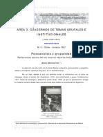 Critica psicoanalisis grupalidad,  AMonserrat