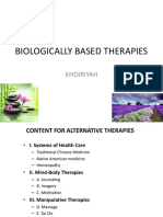 Biologically Based Therapies