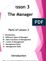 Lesson 3 the Manager