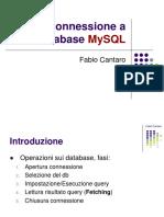 Connessione database e MySQL