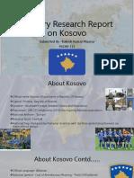 Country Research Report on Kosovo_Rakesh Maurya133