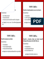 IELTS Topic Cards 1