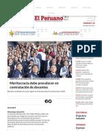 Meritocracia debe prevalecer en contratación de docentes.pdf