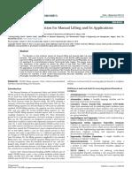 Lifting Equation for Manual Lifting