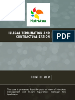 Illegal Termination and Contractualization