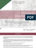 Raúl Aragón Asoc. Provincia de Buenos Aires. Escenario Electoral