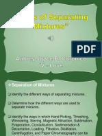 ways of separating mixtures