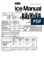 9441 Panasonic SC-TM-960DIM Sistema de Sonido Sorround Alta Potencia Manual de Servicio
