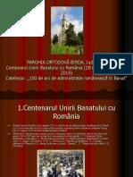 100 de ani de administrație românească în Banat