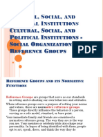 SOCIAL INSTITUTIONS AND ORGANIZATIONS