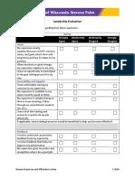 Performance Management - Leadership Evaluation Form