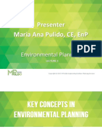 kay concepts of enviromental planning